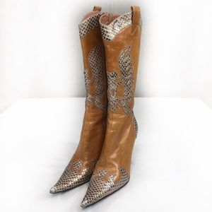 Bronx leather boots
